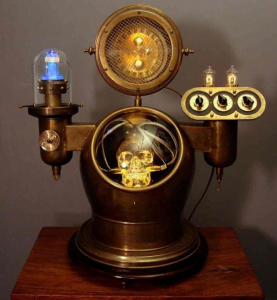 steampunk lighting. Makes Steampunk-inspired Lamps. The Retro-feeling, Yet  Futuristic-looking Lamps Make Use Of Rich-hued Woods, Brass, Copper And Bronze, Steampunk Lighting