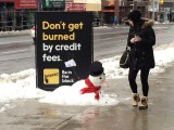 Snowman at Yonge St. and Eglinton Ave.
