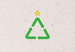 xmas card recylced trees