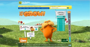 the weather network let it grow web site display