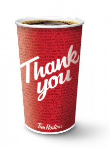 tim hortons-tim hortons pays tribute to canadian heroes of the p