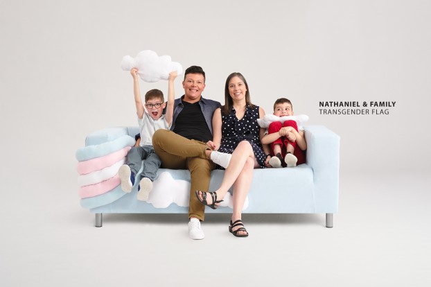 transgender flag1 love seat -nathaniel